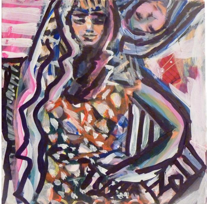 INESCAPABLE. Labels Series. Mixed Media on Canvas.