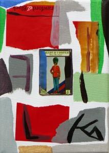 Matchbox Series 29. Arthur Cooper Matchbox and Acrylic on Canvas. 12.7x17.7x1.5cm. 2014.