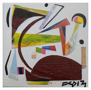 HOMAGE TO ZAHA. Mixed Media Collage. 20 x 20 cm. F G Davis. 2013