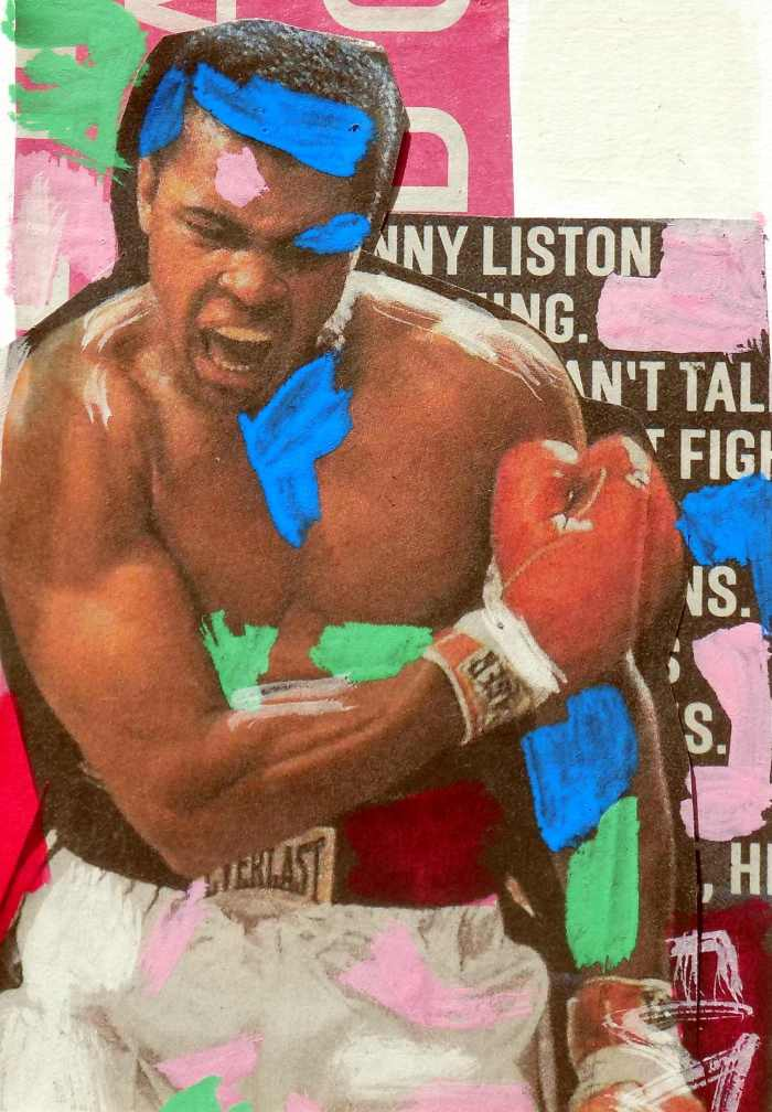 ALI LISTON 11.5 x 16 cm. Mixed Media Collage. F G Davis 2016.