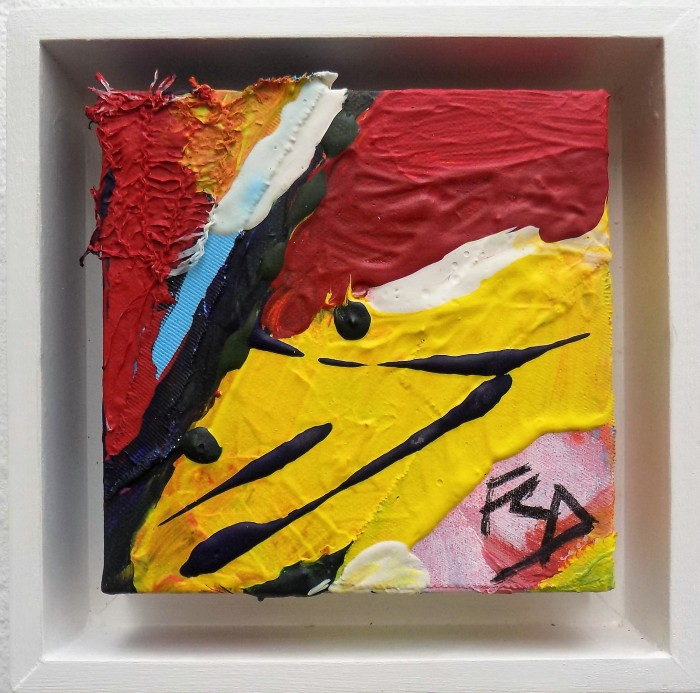 ALMOST EDIBLE. Mixed Media on Canvas. 201516. 15 x 15 cm