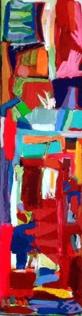 HOMAGE TO SALLY. Mixed Media on Canvas. 30 x 100 cm. 2017 (2)