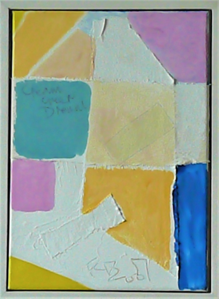 Cream, Green, Dream. 36x26cm. 2007 Mixed Media on Canvas