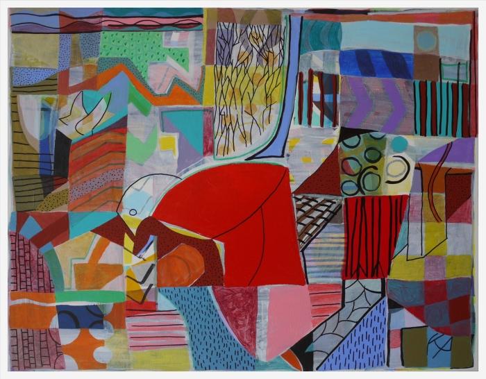 Jackdaws Acrylic on Canvas 77 x 62 x 1 cm. 2020