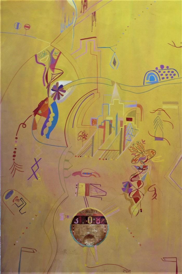 CAR TAX. Watercolour and Gouache. 1982