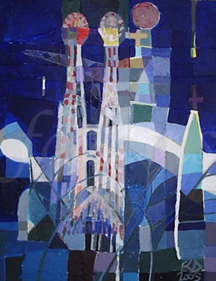 Sagrada-Familia.-Mixed-Media-on-canvas.-2005.2jpg